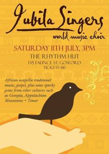 Jubila Singers sings at The Rhythm Hut July 11